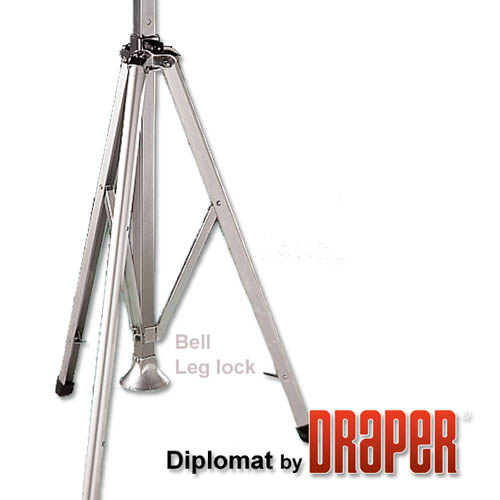 Diplomat 50x50 (71 Diag.) Tripod Projector Screen, Square Format, Contrast Grey Fabric - 213021