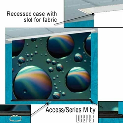 Access/Series M - 105x140 (175 Diag.) Projector Screen, Video Format, Glass Beaded Fabric Draper,203047,Projector Screen,Ceiling Recessed,Manual,AccessSeries M