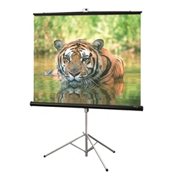 Consul 40x40 (56 Diag.) Tripod Projector Screen, Square Format, Matt White Fabric 6127-5100,5127-5100,56127-5100,55127-5100,96127-5100,95127-5100