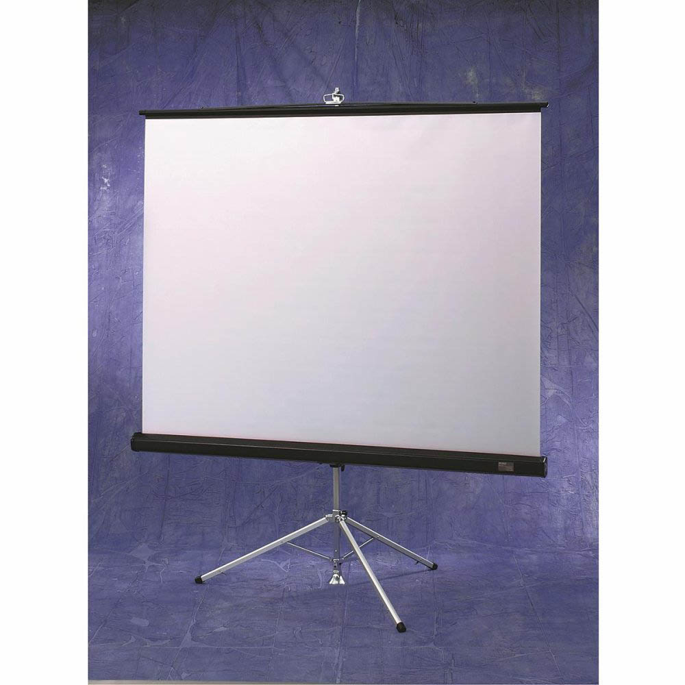 Diplomat 50x50 (71 Diag.) Tripod Projector Screen, Square Format, Matt White Fabric - 213001