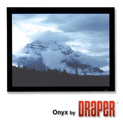 Onyx 10x10 (170 Diag.) Fixed Frame Projector Screen, Square Format, Cineflex Fabric Draper,253319,Projector Screen,Wall  Ceiling,Fixed Frame,Onyx