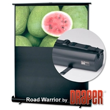 RoadWarrior 36x48 (60 Diag.) Floor Rising Projector Screen, Video Format, Glass Beaded Screen Fabric Draper,230002,Projector Screen,Portable,Floor Mounted Manual,RoadWarrior