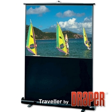 Traveller 23x40 (47 Diag.) Floor Rising Projector Screen, HDTV Format, Matte White Screen Fabric 6127-9750,5127-9750,56127-9750,55127-9750,96127-9750,95127-9750