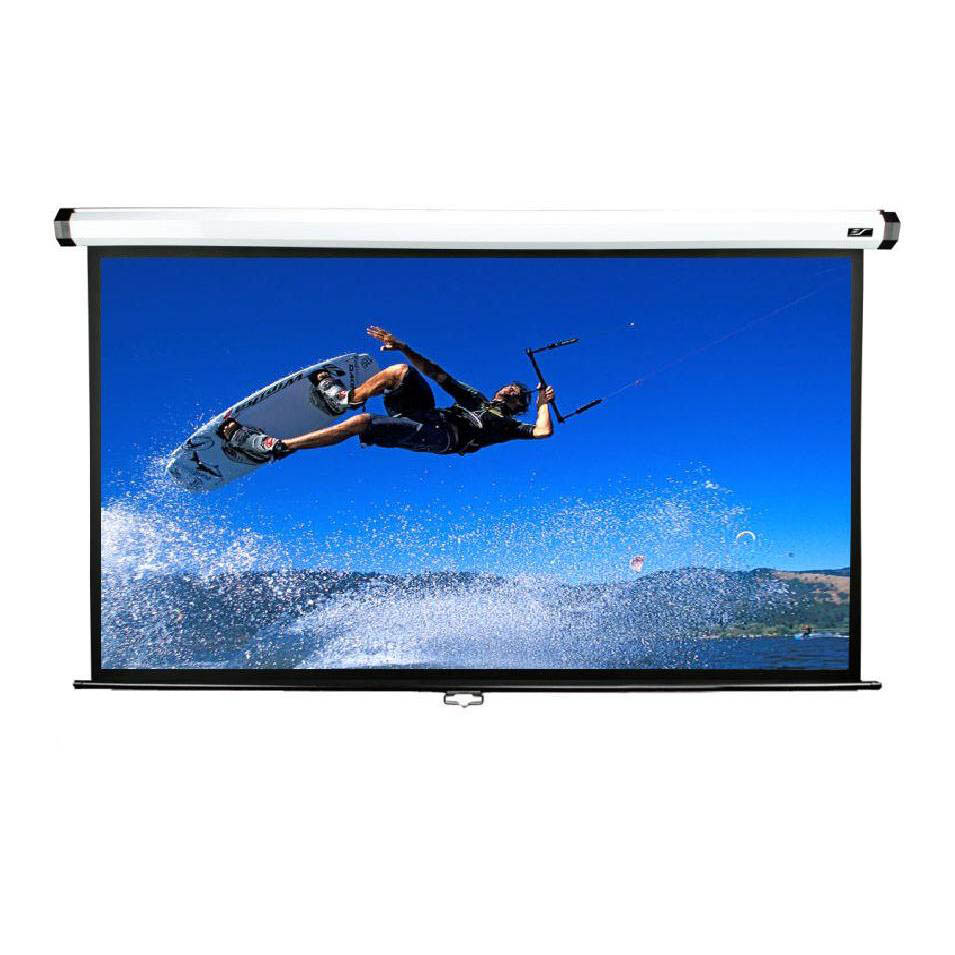 "Manual Series 135"" Diag. (66x117 ) Wall/Ceiling Projector Screen, HDTV Format, MaxWhite Fabric - M135XWH2"