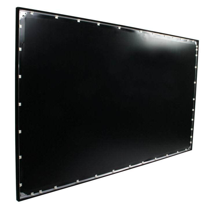 "ezFrame Series 100"" Diag. (49x87) Fixed Frame Projector Screen, HDTV Format, CineWhite Fabric - R100WH1"
