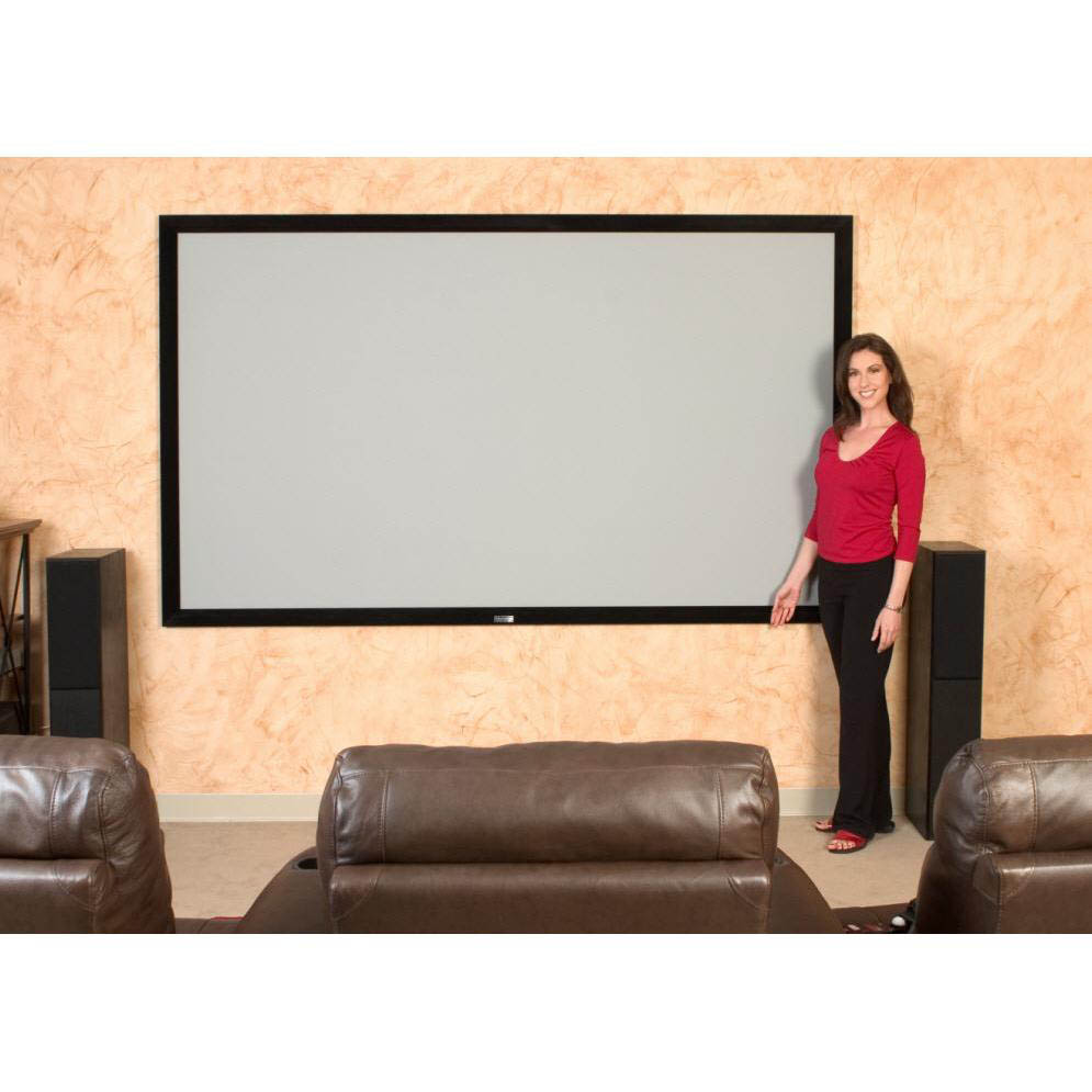 "ezFrame Series 92"" Diag. (45x80) Fixed Frame Projector Screen, HDTV Format, Wraith Veil Fabric - R92RH1"