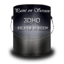 G003DHD - Paint on Screen 3DHD Silver Projection Screen Paint - Gallon