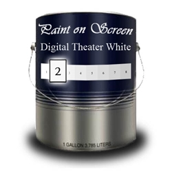 G002 - Paint on Screen Digital Theater White Projection Screen Paint - Gallon
