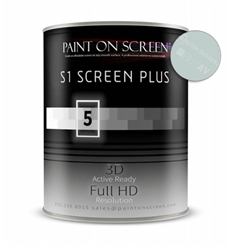 S1 SCREEN SILVER PLUS Projector Screen Paint with 1.5 Gain - Gallon Paint on Screen,Projector Screen,Paint,SilverScreen,Silver Plus,Screen Paint