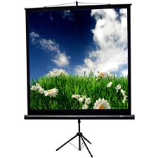 TriMaxx 60x60 (84 diag.) Tripod Projector Screen, Square Format, Ultra3 Matte White - 501084