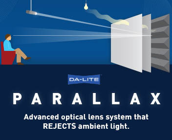 dalite parallax ambient light rejection