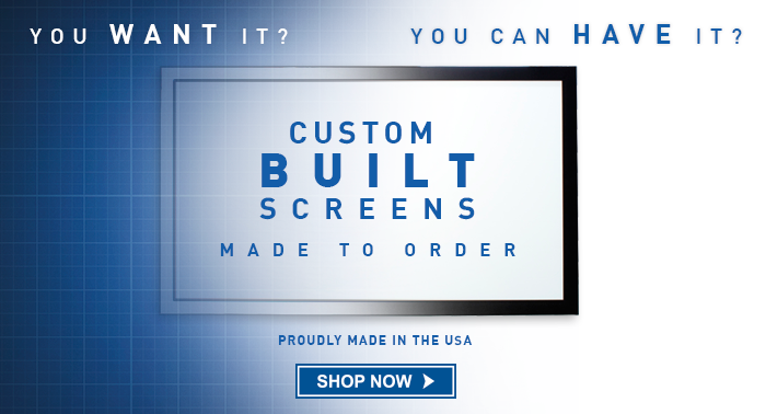 custom projector screens