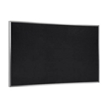 "Ghent 144.5"" x 48.5"" Aluminum Frame Recycled Rubber Tackboard - Black"