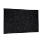 "Ghent 144.5"" x 48.5"" Aluminum Frame Recycled Rubber Tackboard - Tan Speckled"