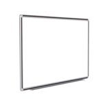 "120"" x 48"" DecoAurora Aluminum Frame Porcelain Magnetic Whiteboard - Black Trim"