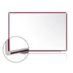 "120"" x 48"" DecoAurora Aluminum Frame Porcelain Magnetic Whiteboard - Cherry Trim"