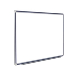 "120"" x 48"" DecoAurora Aluminum Frame Porcelain Magnetic Whiteboard - Navy Blue Trim"