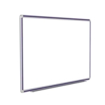 "120"" x 48"" DecoAurora Aluminum Frame Porcelain Magnetic Whiteboard - Purple Trim"