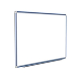 "120"" x 48"" DecoAurora Aluminum Frame Porcelain Magnetic Whiteboard - Royal Blue Trim"