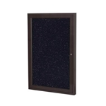 "Ghent 18"" x 24"" 1-Door Bronze Aluminum Frame Enclosed Recycled Rubber Tackboard - Confetti"
