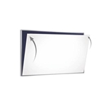 "Ghent 12"" x 48"" 28 Gauge Porcelain Magnetic Whiteboard Sheet/Skin"
