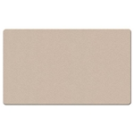 "Ghent 48"" x 12"" Fabric Tackboard w/ Wrapped Edge - Beige"