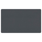 "Ghent 36"" x 24"" Fabric Tackboard w/ Wrapped Edge - Gray"