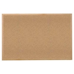 "Ghent 120.5"" x 48.5"" Wood Frame Natural Cork Tackboard"