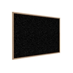 "Ghent 120.5"" x 48.5"" Wood Frame, Oak Finish Recycled Rubber Tackboard - Tan Speckled"