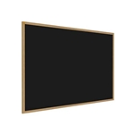 "Ghent 144.5"" x 48.5"" Wood Frame, Oak Finish Recycled Rubber Tackboard - Black"