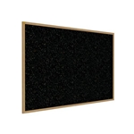 "Ghent 144.5"" x 48.5"" Wood Frame, Oak Finish Recycled Rubber Tackboard - Confetti"