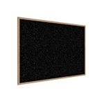 "Ghent 144.5"" x 48.5"" Wood Frame, Oak Finish Recycled Rubber Tackboard - Tan Speckled"