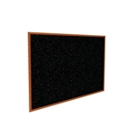 "Ghent 120.5"" x 48.5"" Wood Frame, Cherry Oak Finish Recycled Rubber Tackboard - Confetti"