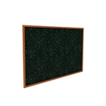 "Ghent 120.5"" x 48.5"" Wood Frame, Cherry Oak Finish Recycled Rubber Tackboard - Tan Speckled"