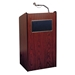 Aristocrat Full Floor Lectern/Podium with Sound and 2 Built-in Shelves in Mahogany - 6010MY - OKS-6010-MY