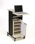 "Oklahoma Sound PRC-250 Deluxe Presentation Cart, 30"" Length x 18"" Width x 40...."