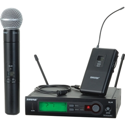 Shure SLX124/85/SM58 Wireless Microphone Combo System