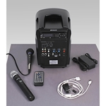 iPod Docking Wireless Portable PA System with Wireless Mic/Receiver