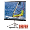 "Draper Diplomat R 60x60 (85"" Diag.) Tripod Projector Screen, Square Format, Matt White Fabric"