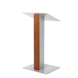 Urbann Y5 Contemporary Whisky Wood and Aluminum Full Floor Lectern