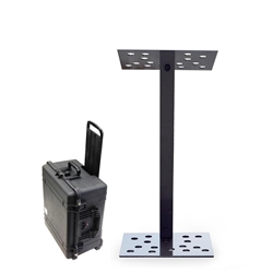 Urbann Y7 Portable Contemporary Charcoal Aluminum Full Floor Modular Lectern with Carry Case