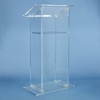 Amplivox Traditional RTA Clear Acrylic Full Floor Lectern