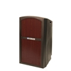 Pinnacle Rugged Plastic Full Floor Lectern with Mahogany Panels