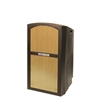 Pinnacle Rugged Plastic Full Floor Lectern with Maple Panels