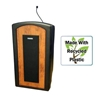 Pinnacle Rugged Plastic Floor Lectern with Wireless Sound System and Cherry Panels