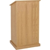 Amplivox Chancellor Full Floor Lectern with Natural Oak Finish and 2 Shelves