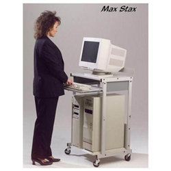 "42.5""H x 25""W Max Stax Mobile 3-Shelf Workstation in Gray - 25983 Balt,25983Gray"