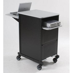 "40""H x 21.25""W Xtra Wide 4-Shelf Cart w/Gray LaminateSurface-Cabinet Pict.Not Included-27517 Balt,27517Gray/Black"