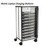 "50""H x 22.5""W Mobile Laptop Charging Station w/10 Unit Capacity,Locking Cabinet -Gray- 27540"