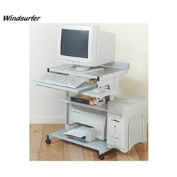 "29.75""H x 36.75""W Windsurfer 4-Self Compact Computer Workstation in Gray - 44162 Balt,44162Gray"